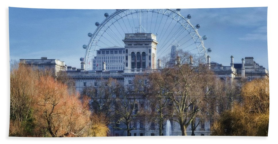 London Bath Sheet featuring the photograph Eyeing The View by Joan Carroll