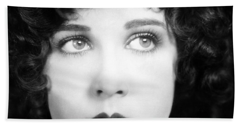 1930s Bath Sheet featuring the photograph Eyes: Mary Brian by Granger