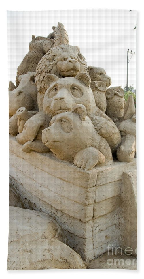 Noah's Ark Hand Towel featuring the photograph Fairytale Sand Sculpture by Sv