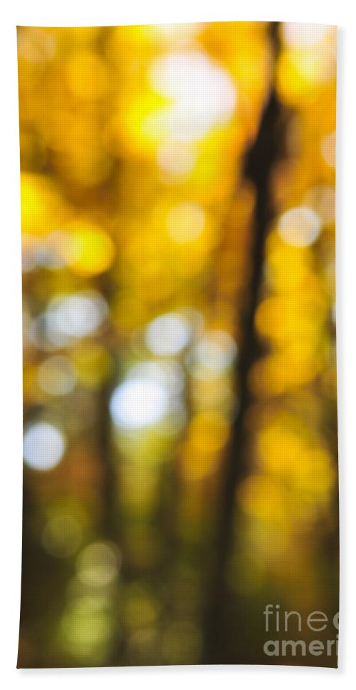 Nature Hand Towel featuring the photograph Fall Abstract by Elena Elisseeva