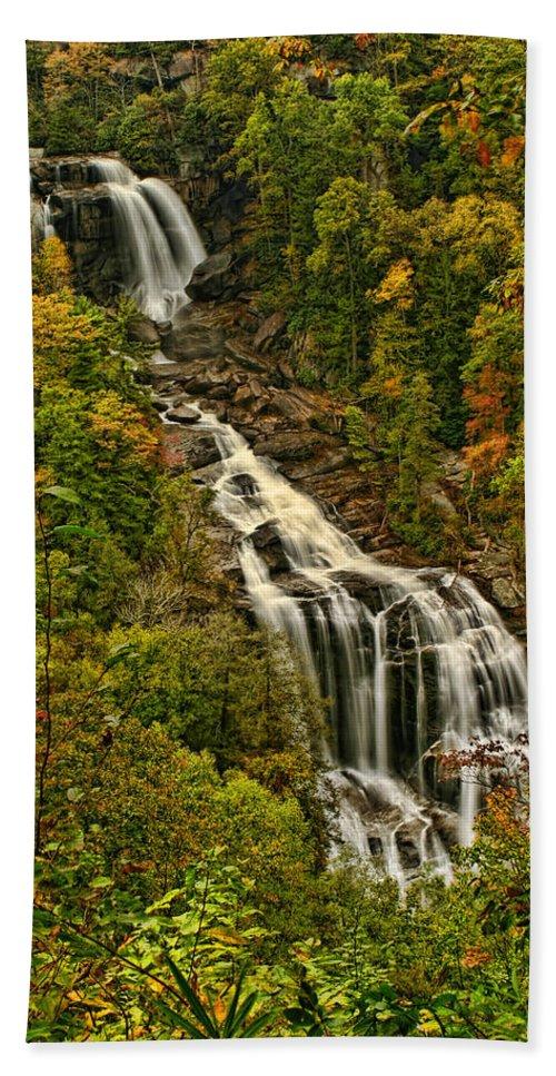 Falls Bath Sheet featuring the photograph Fall At Whitewater Falls by Shari Jardina