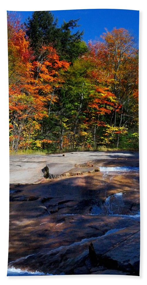 Bath Sheet featuring the photograph Fall Falls by Mark Valentine