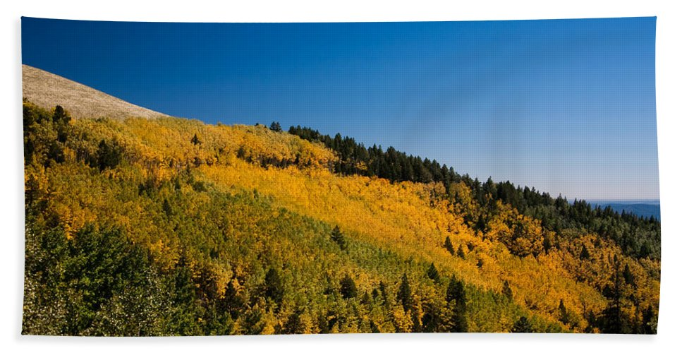 Ralf Hand Towel featuring the photograph fall in Ruidoso by Ralf Kaiser