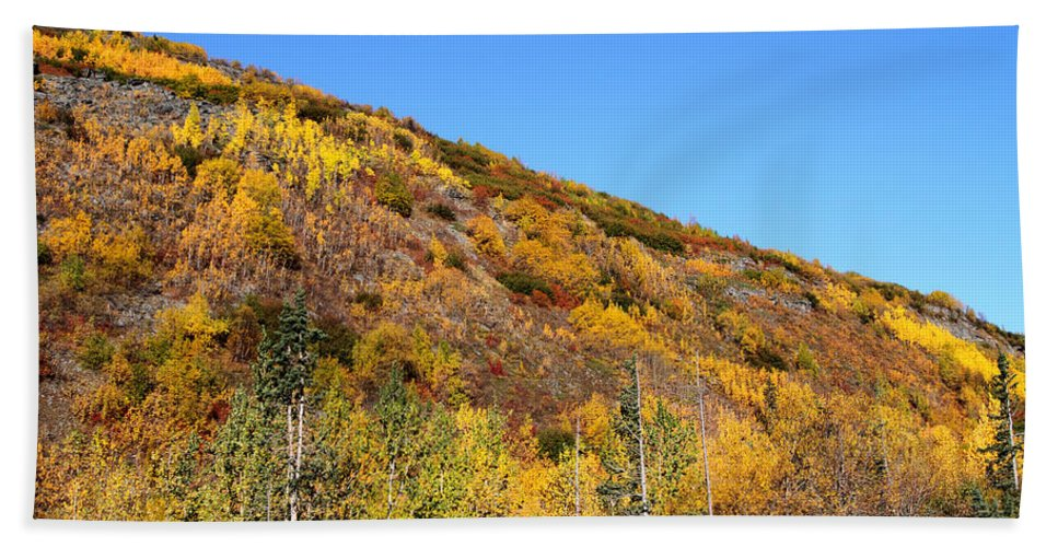 Doug Lloyd Hand Towel featuring the photograph Fall In The Mountains by Doug Lloyd