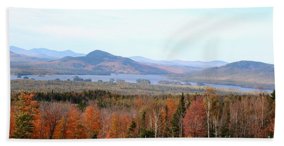 Fall Bath Sheet featuring the photograph Fall Landscape by Christiane Schulze Art And Photography
