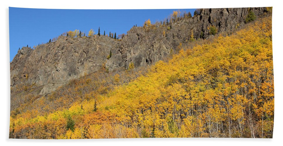 Doug Lloyd Hand Towel featuring the photograph Fall Mountains by Doug Lloyd