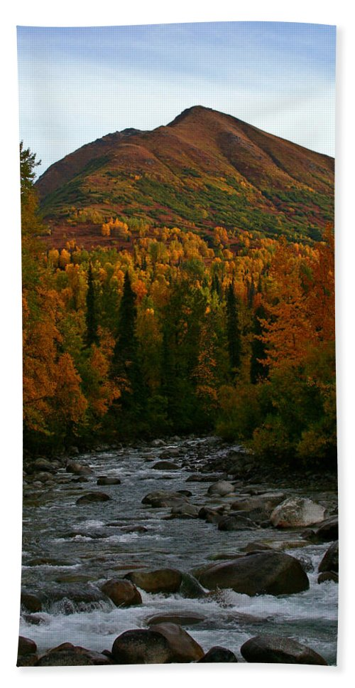 Doug Lloyd Hand Towel featuring the photograph Fall View by Doug Lloyd