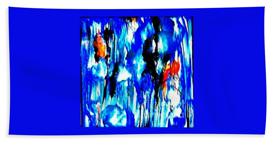 Bath Sheet featuring the painting Fallic Breeze by Milisa Miner