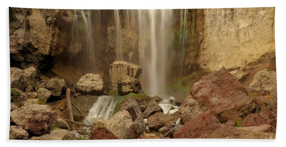 Paulina Falls Hand Towel featuring the photograph Falling Into The Canyon by Adam Jewell