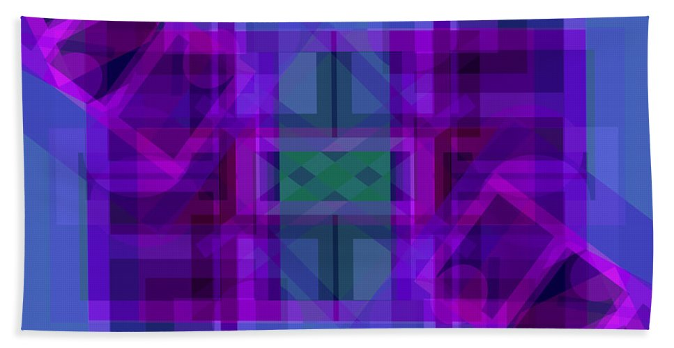 Color Bath Sheet featuring the digital art Falling Magenta 2 by Lynda Lehmann