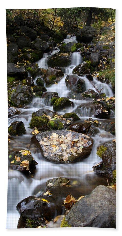 Doug Lloyd Hand Towel featuring the photograph Falls Creek by Doug Lloyd