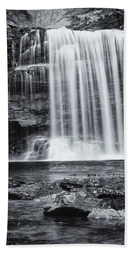 Landscape Hand Towel featuring the photograph Falls by Fran Gallogly