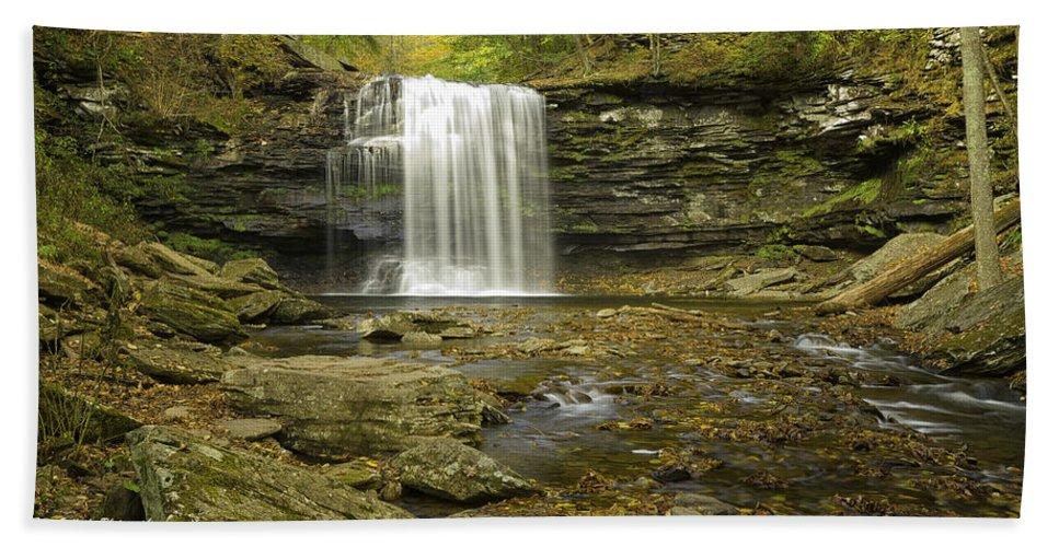 Landscape Hand Towel featuring the photograph Falls Panorama by Fran Gallogly