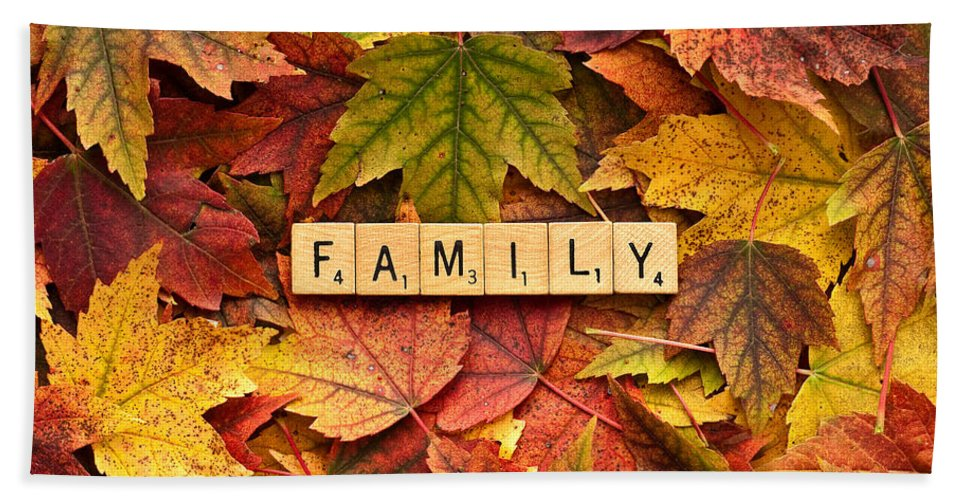 Believe Hand Towel featuring the photograph Family-autumn Inpsireme by Onyonet Photo Studios
