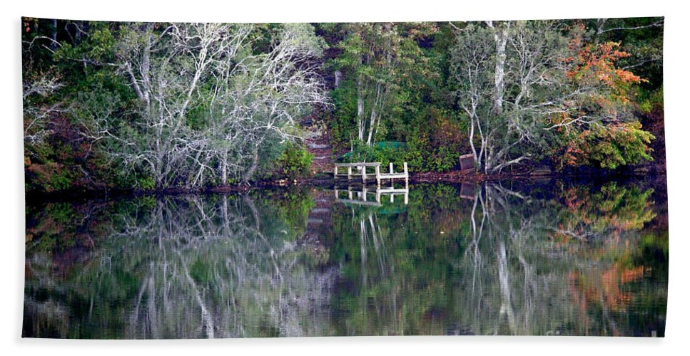 Fall Bath Sheet featuring the photograph Farewell To Summer - Digital Painting by Carol Groenen