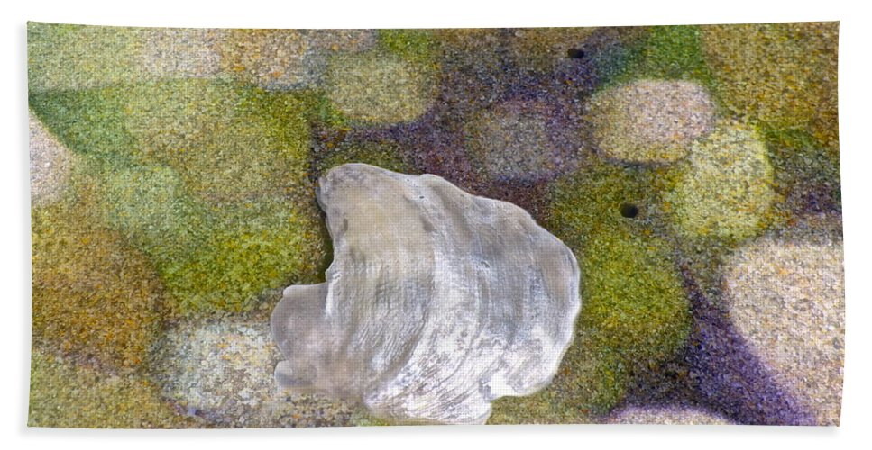 Sand Bath Sheet featuring the photograph Feeling Encompassed by Gwyn Newcombe