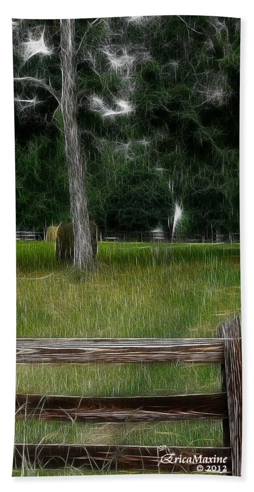 Fence Bath Sheet featuring the photograph Fenced In Field by Ericamaxine Price