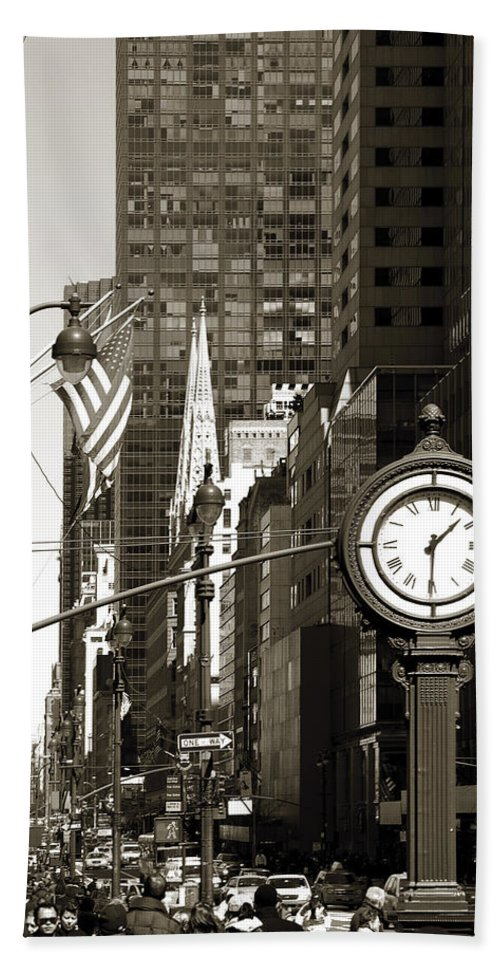 Fifth Avenue Bath Sheet featuring the photograph Fifth Avenue by RicardMN Photography