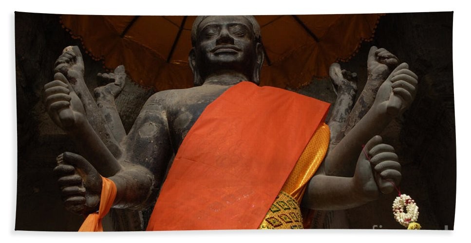 Travel Bath Sheet featuring the photograph Angkor Wat Cambodia 3 by Bob Christopher