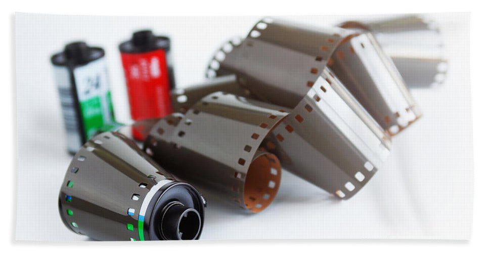 35mm Bath Sheet featuring the photograph Film And Canisters by Carlos Caetano