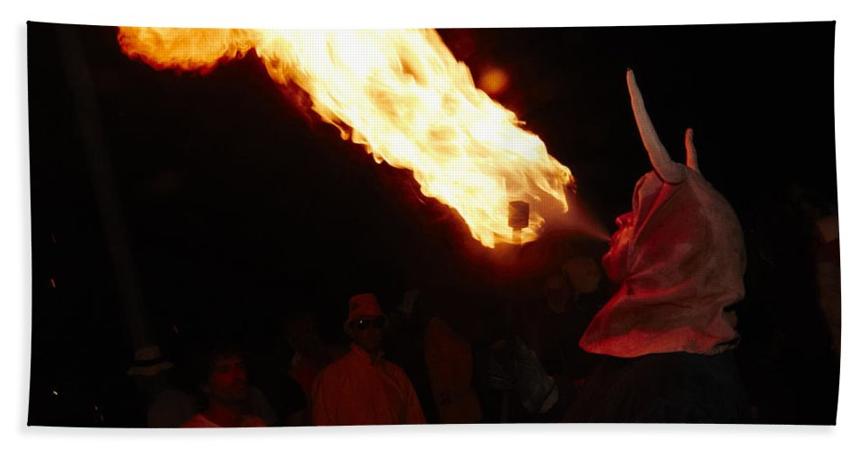 Fuego Bath Sheet featuring the photograph Fire Axe 2 by Agusti Pardo Rossello