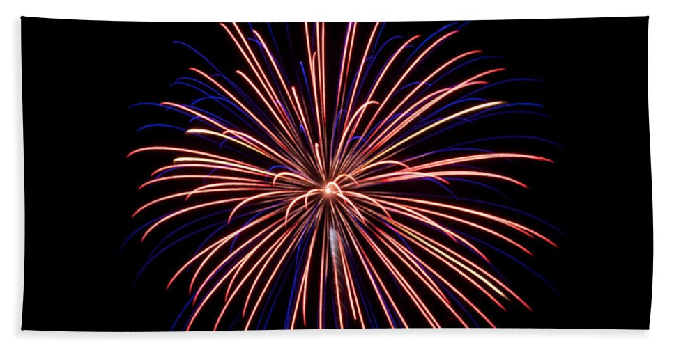 Fireworks Hand Towel featuring the photograph Fireworks 7 by Mark Dodd