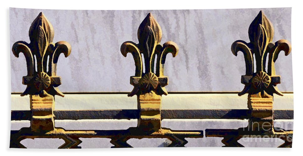 Fleur Bath Sheet featuring the photograph Fleur De Lis Painted by Kathleen K Parker