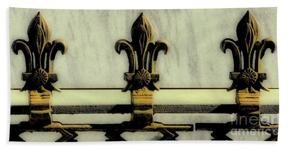 Fleur Bath Sheet featuring the photograph Fleur De Lis Two by Kathleen K Parker