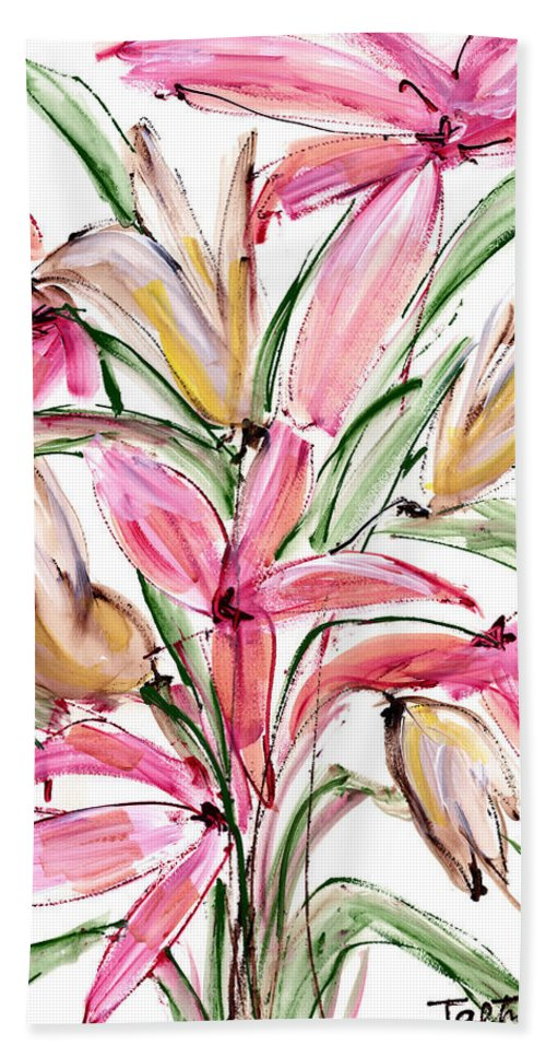 Flower Hand Towel featuring the painting Floral Fourteen by Lynne Taetzsch