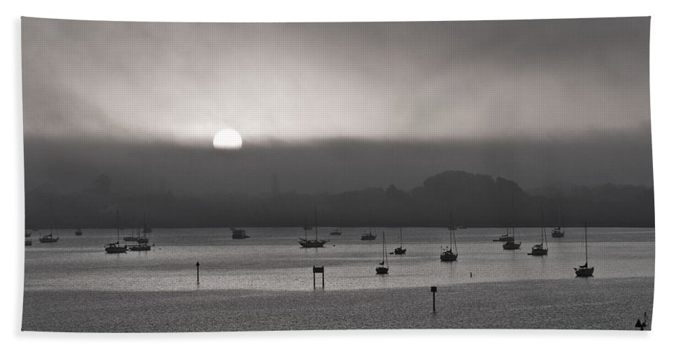 Ringling Bath Sheet featuring the photograph Florida Sunrise Ringling Bridge by Betsy Knapp