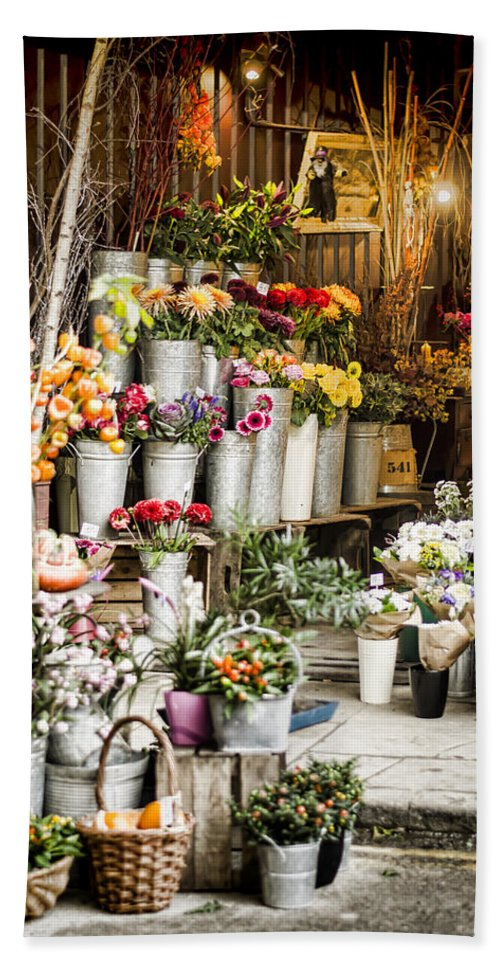 Florist Hand Towel featuring the photograph Flower Shop by Heather Applegate