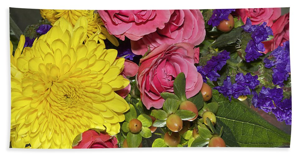Flower Bath Sheet featuring the photograph Flowers Of Summer by Phyllis Denton