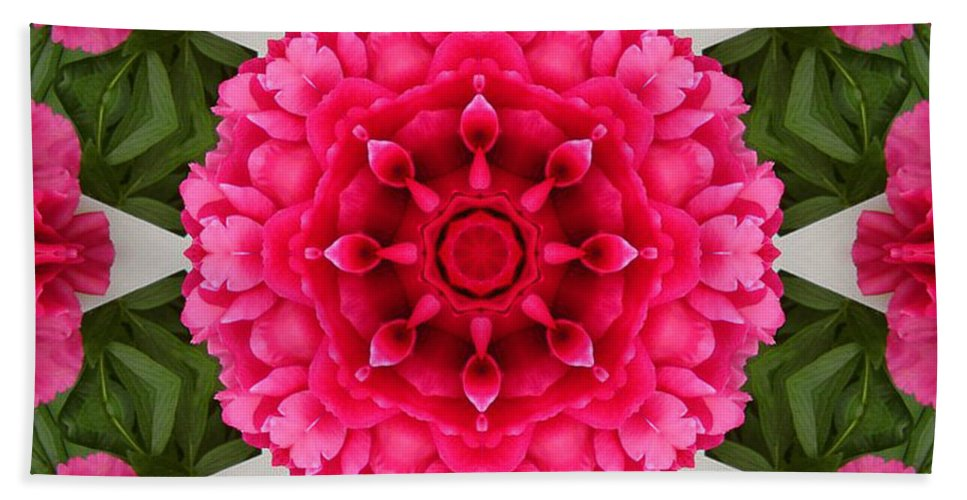 Pink Flowers Hand Towel featuring the photograph Flowery Creation by Barbara Griffin