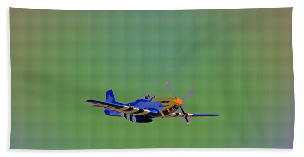 Aviation Bath Sheet featuring the photograph Flying Colors by Karol Livote