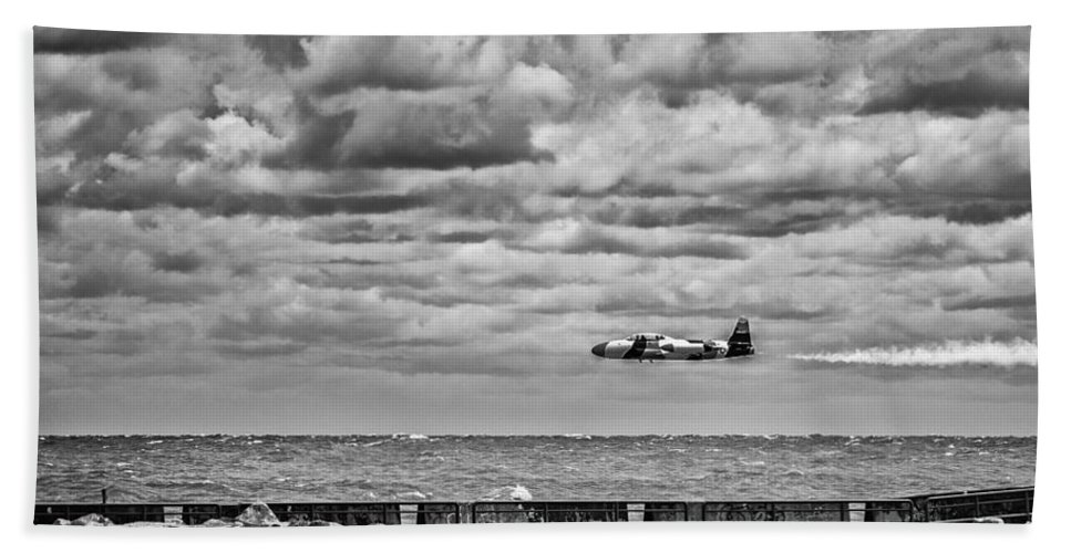 Cj Schmit Hand Towel featuring the photograph Flying Low by CJ Schmit