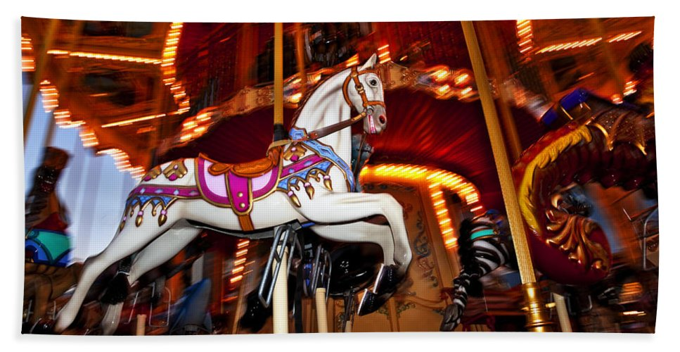 Carousel Bath Sheet featuring the photograph Flying Pony by Kelley King