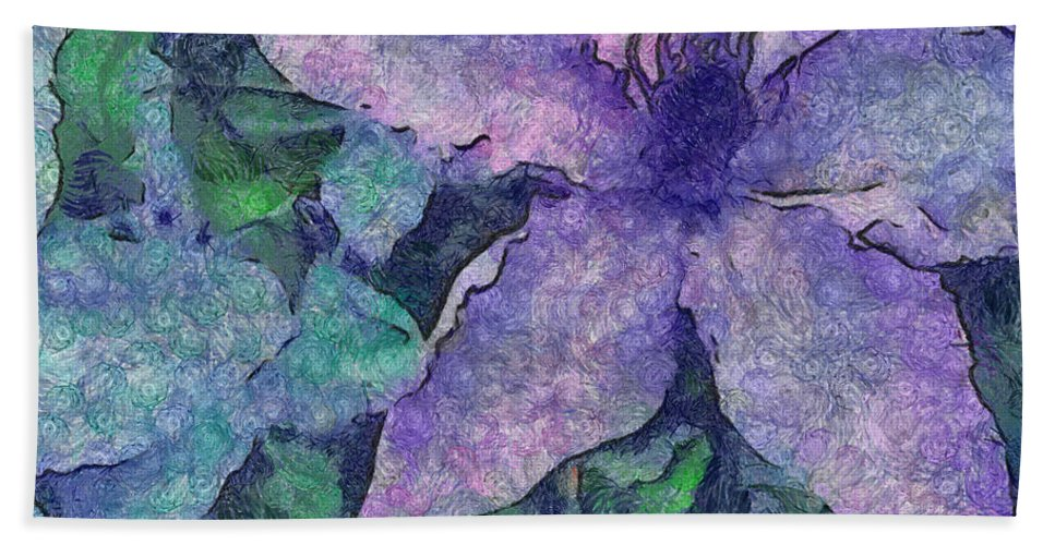 Clematis Bath Sheet featuring the photograph Focus On The Future by Trish Tritz