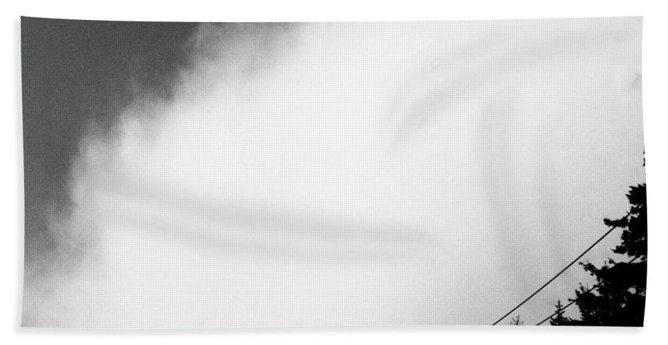 Fog Bath Sheet featuring the digital art Fog Lifting by Lizi Beard-Ward