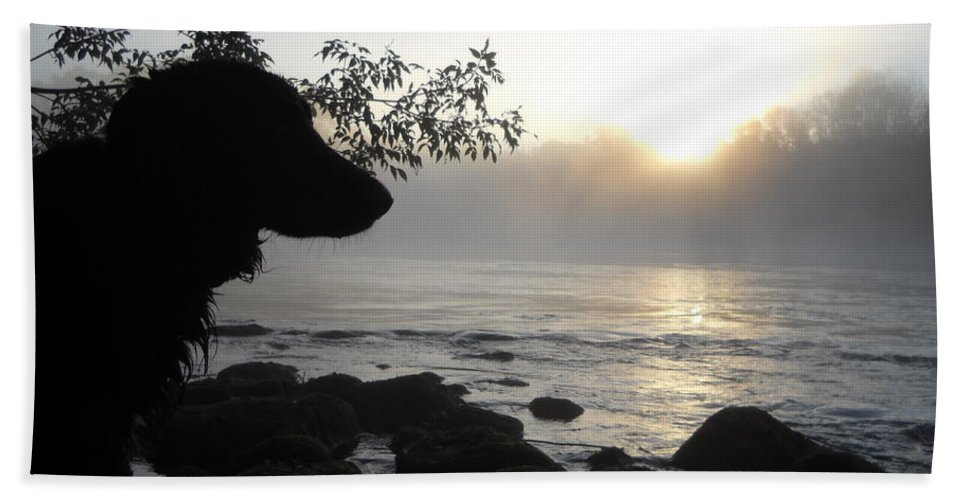 Fog Bath Sheet featuring the photograph Fog On The Rocks Sunrise by Kent Lorentzen