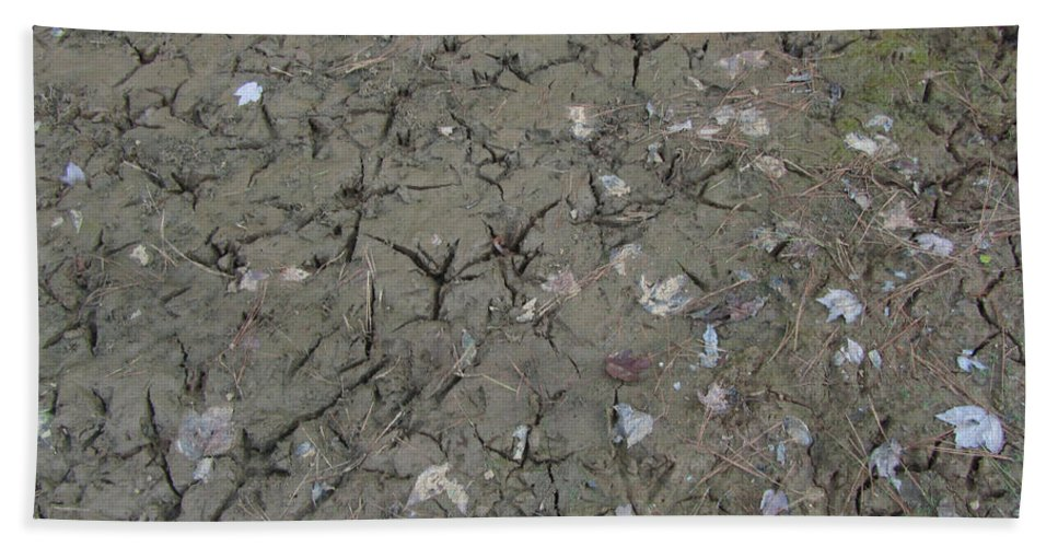 Mud Bath Sheet featuring the photograph Foot Prints In The Mud by Donna Brown
