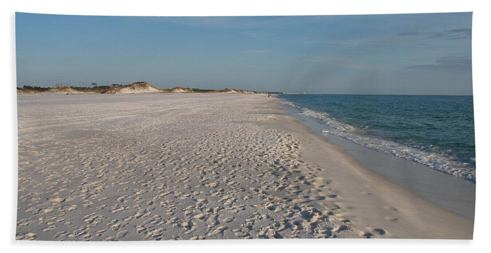 Footprints Bath Sheet featuring the photograph Footprints In The Sand by Christiane Schulze Art And Photography
