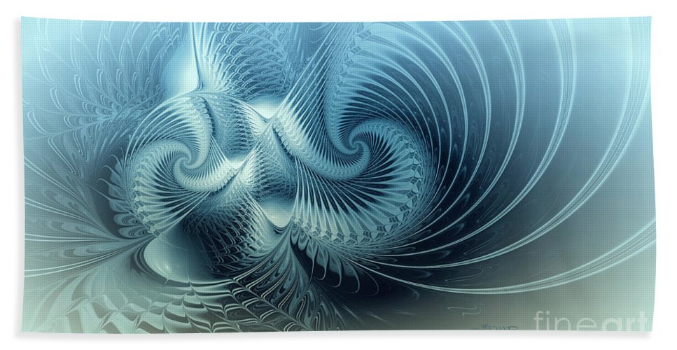 Fractal Bath Sheet featuring the digital art For Ever And A Day by Jutta Maria Pusl