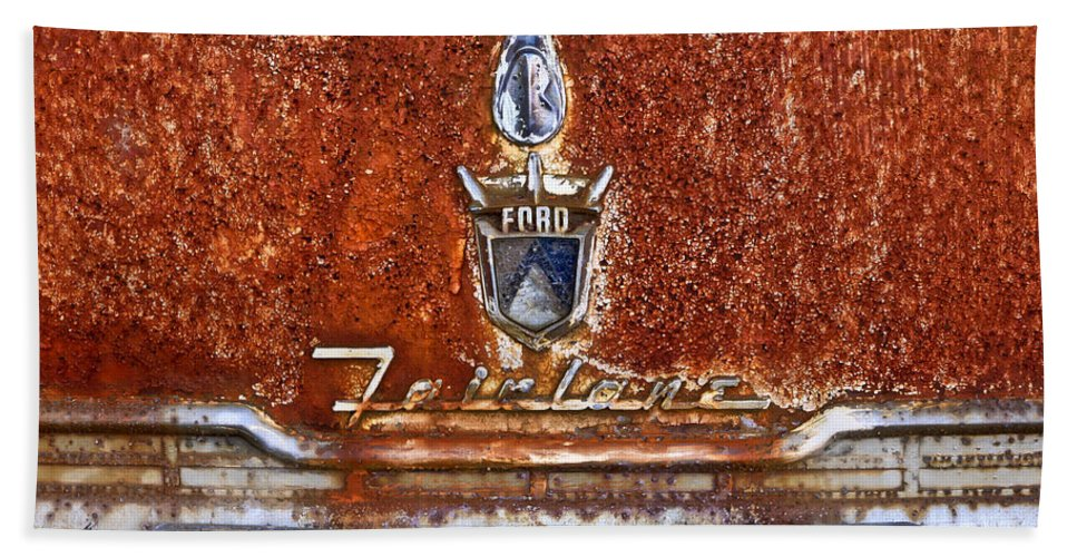 Ford Bath Sheet featuring the photograph Ford Fairlane by Tom and Pat Cory