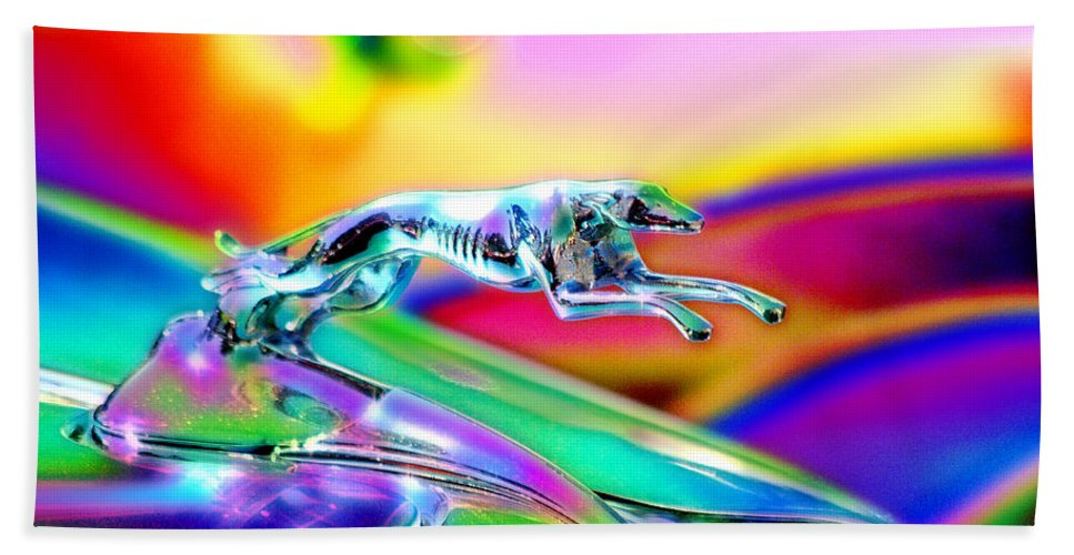 Car Show Bath Sheet featuring the photograph Ford Greyhound by Vicki Pelham
