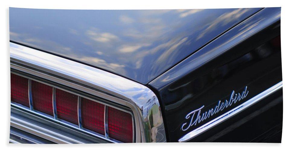 Ford Thunderbird Bath Sheet featuring the photograph Ford Thunderbird Taillight by Jill Reger