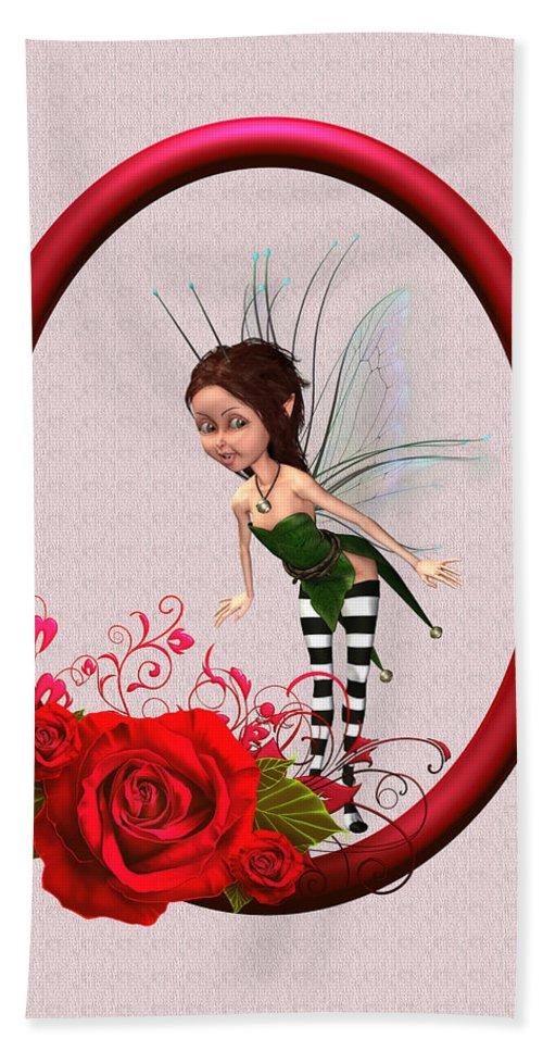 Fairy In The Garden Bath Sheet featuring the digital art Foresrt Fairy by John Junek