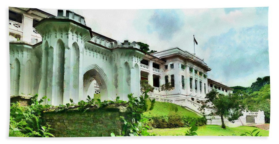 Fort Canning Bath Sheet featuring the photograph Fort Canning Park Visitor Centre by Steve Taylor