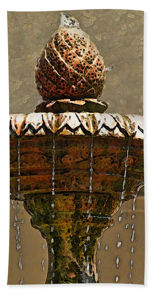 Arcitecture Bath Sheet featuring the photograph Fountain Art I by Debbie Portwood