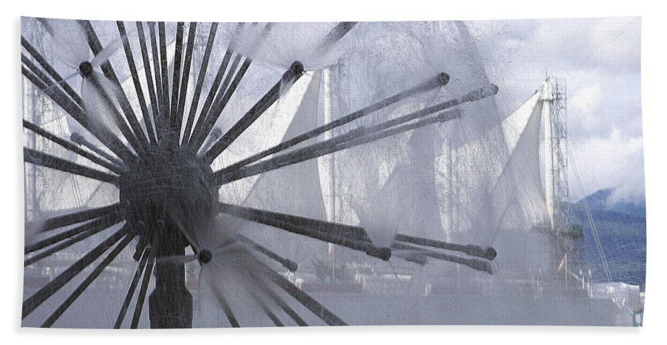 Fountain Hand Towel featuring the photograph Fountain by Eunice Gibb