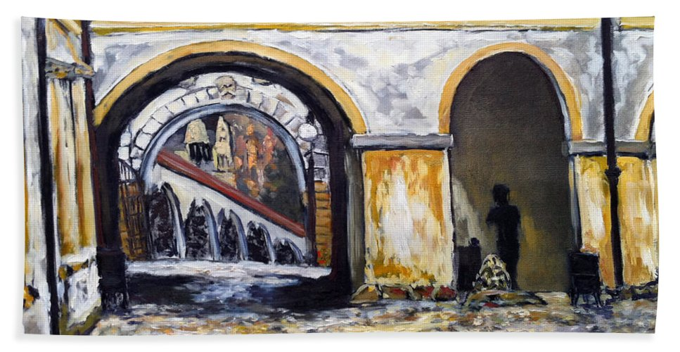 Landscape Bath Sheet featuring the painting Fousac by Pablo de Choros